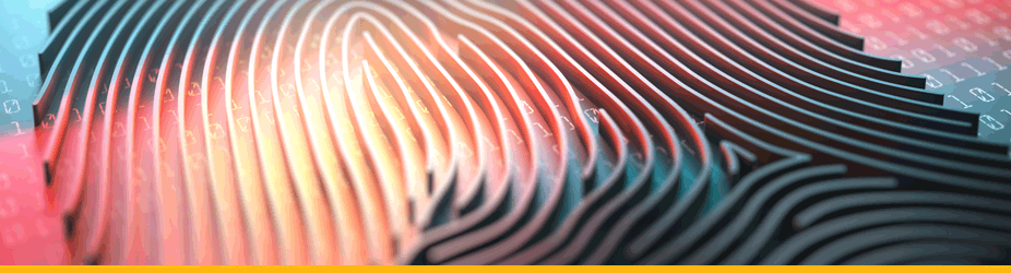 Bitcoin-Signatur - Digitaler Fingerabdruck-Nahaufnahme