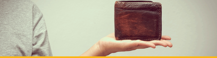 Bitcoin-Wallet - Geldbörse auf Hand