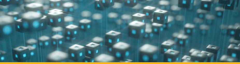 Blockchain - Digitale Blöcke im dreidimensionalen Raum