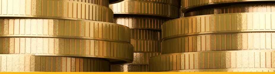 Altcoins - Großaufnahme Münzen